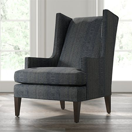 Luxe High Wing Back Chair + Reviews | Crate and Barr