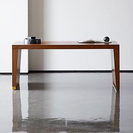 Elemental Large Wood Desk-Table + Reviews | C