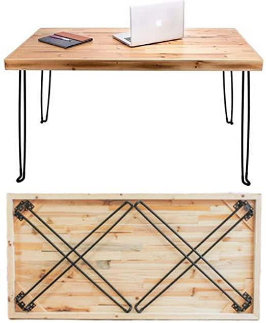 Amazon.com: Sleekform Folding Desk Lightweight Portable Wood Table .