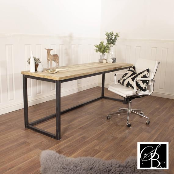 Reclaimed Wood Desk Industrial Table Rustic Wooden Executive | Et