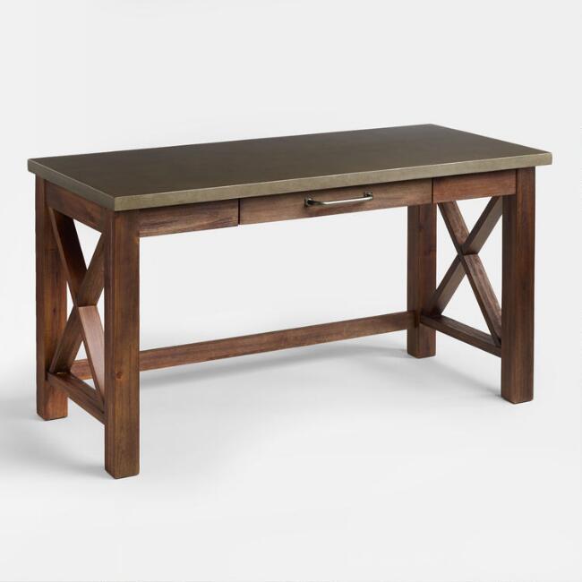 Wood Farmhouse Desk | World Mark