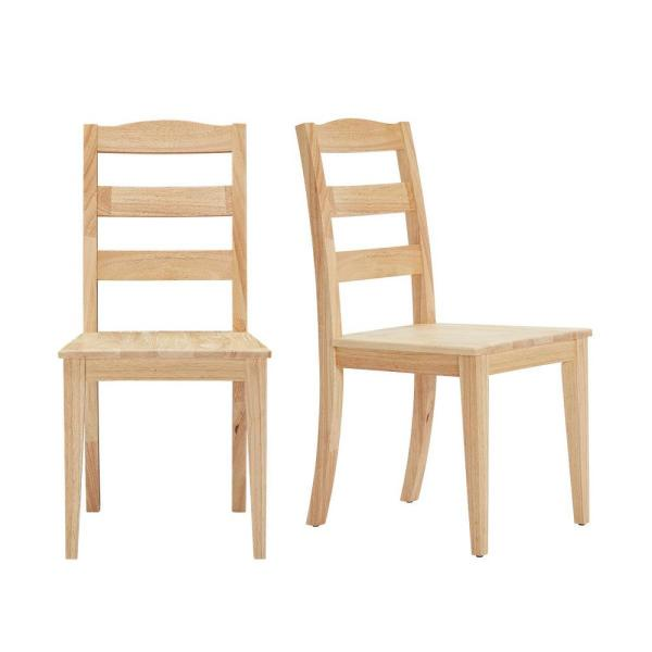StyleWell StyleWell Unfinished Wood Chair with Ladder Back (Set of .