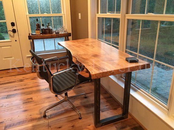 Your Custom Desk- Live Edge Desk- Industrial Desk- Rustic Desk .