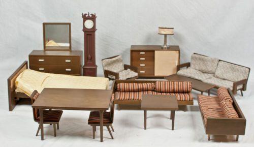 Very RARE Vintage 1950's Mattel Doll House Furniture Wood Barbie .