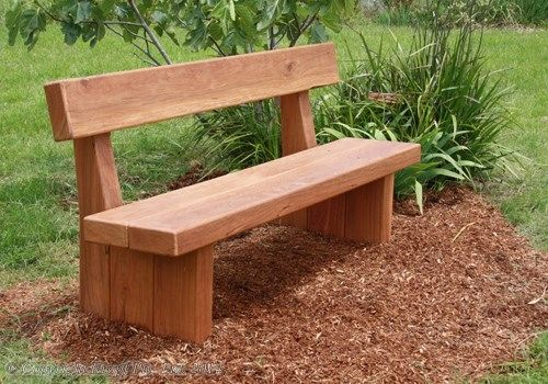 Wooden Bench Seats | Wooden garden benches, Rustic outdoor .