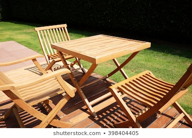 Garden Furniture Wooden Images, Stock Photos & Vectors | Shuttersto