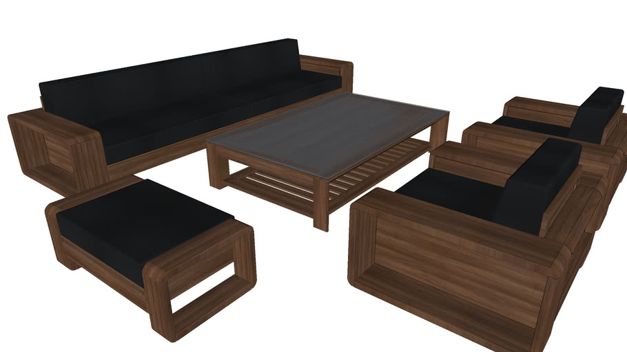 Wooden sofa | 3D Warehou
