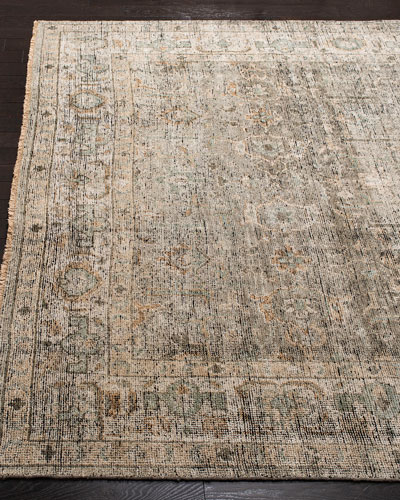 Hand Knotted Wool Rug | Neiman Marc