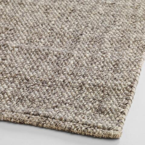 Light Gray Emilie Flatweave Sweater Wool Area Rug | World Mark