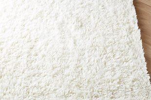 Flokati Ivory Wool Rug | C