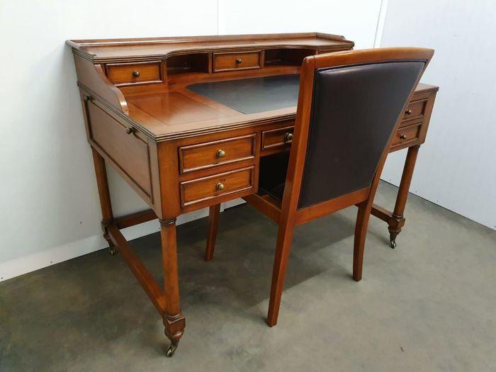 Writing desk, Cherry wood desk with chair - Catawi