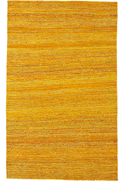 Handwoven Recycled Yellow Silk Rug | Decor by Col